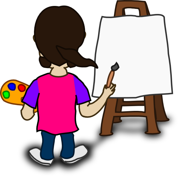 Cartoon Painting Clipart - Clipart Kid