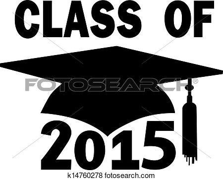 Clip Art Of Class Of 2015 College High School Graduation Cap K14760278