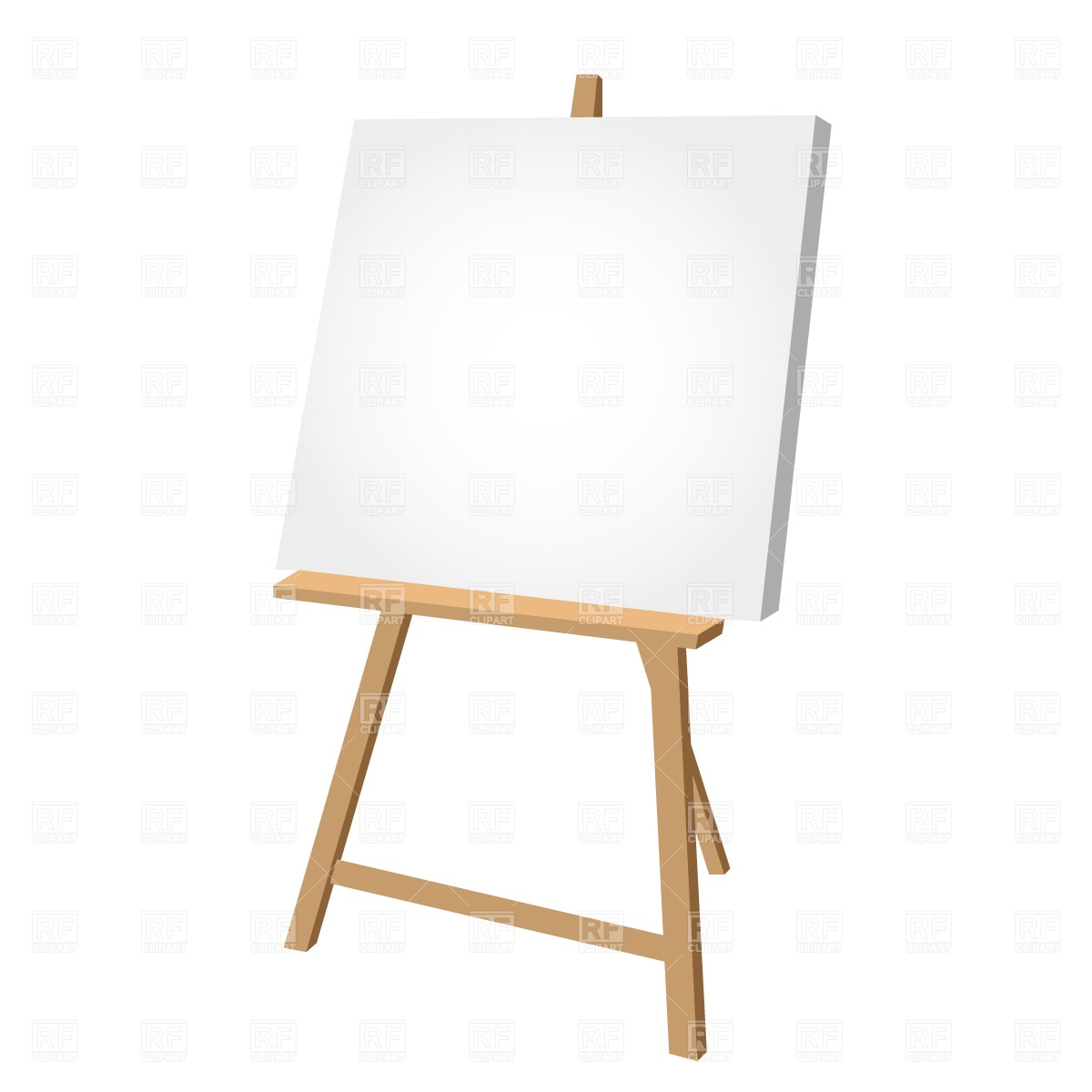 Clipart Catalog Objects Blank Easel Download Free Vector Clipart