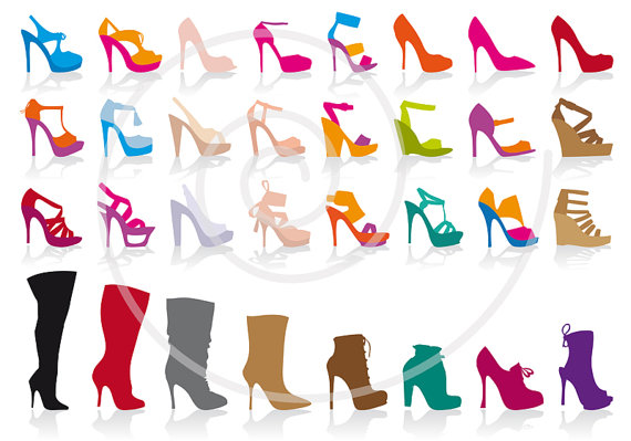 Digital Clipart Clip Art Vector Stiletto High Heels Fashion