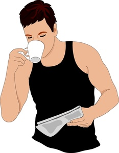 Drinking Coffee Clip Art Images Drinking Coffee Stock Photos   Clipart
