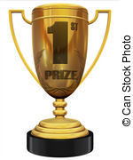 First Prize 3d Trophy Clipart