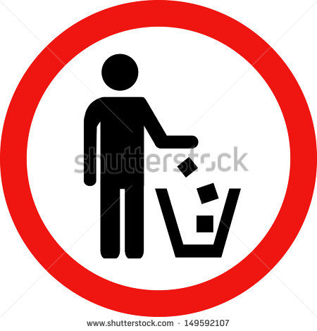 Go Back   Gallery For   No Littering Sign Clipart