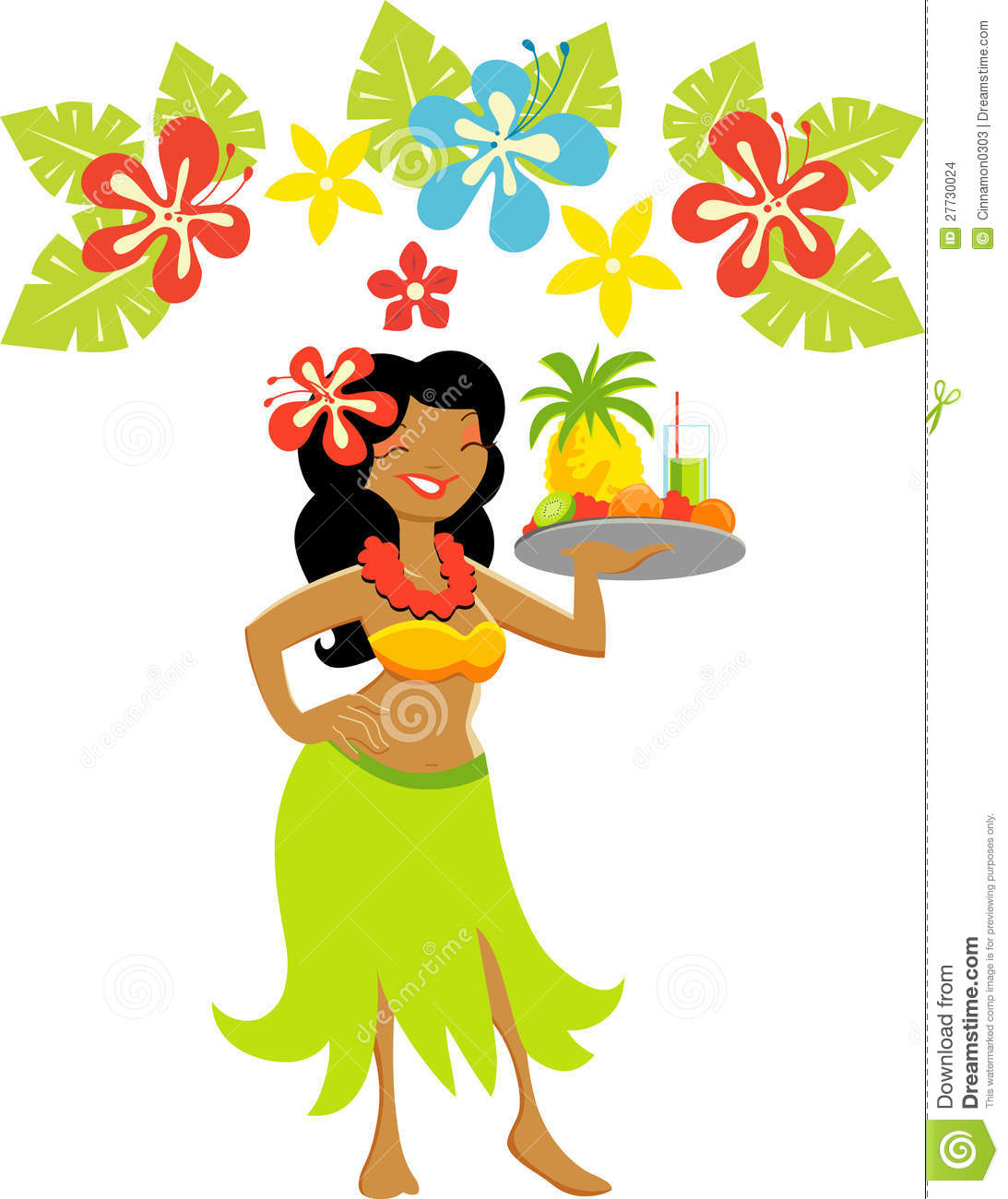 Hawaiian Cartoon Clipart - Clipart Kid
