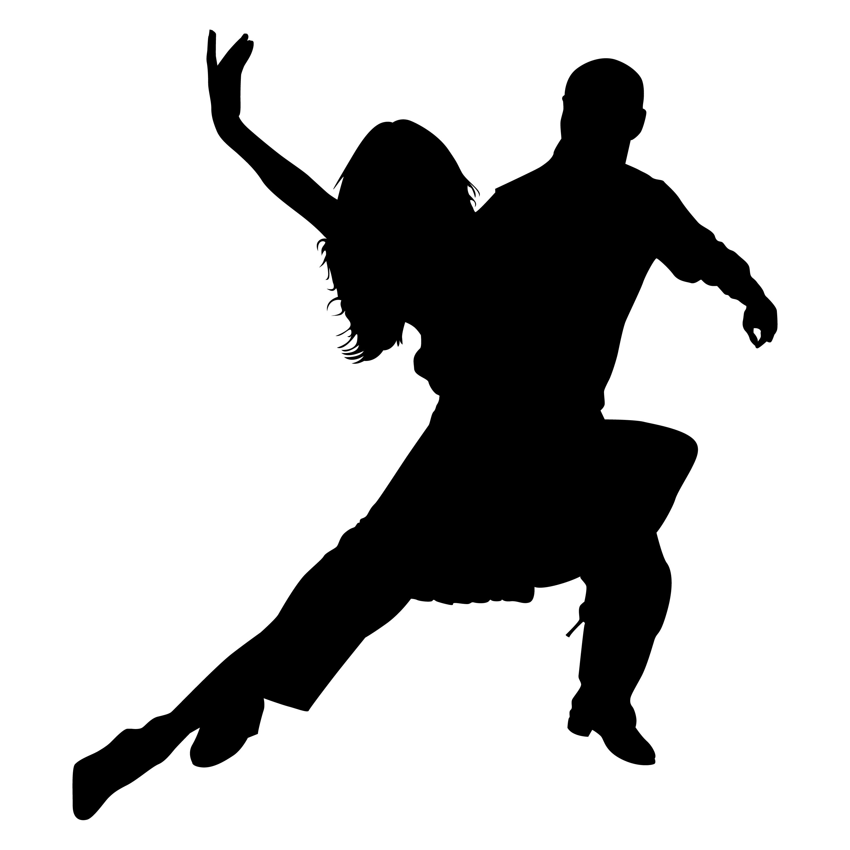 Ballroom Dancing Silhouette Vector Ballroom Dancers Outli...