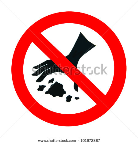 No Litter Clipart No Littering Sign In White