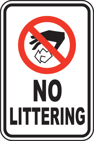 No Littering Sign By Safetysign Com   F2639
