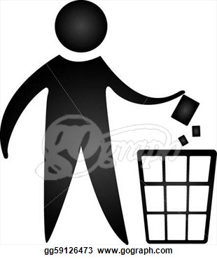 No Littering Sign Isolated Over White Background Vector Eps Clipart