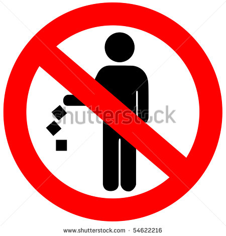 No Littering Sign Stock Photo 54622216   Shutterstock