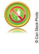 No Littering Sign Vector Clipart