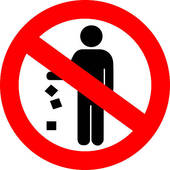 No Littering Vector Sign Vector No Littering Sign Pollution Pollution