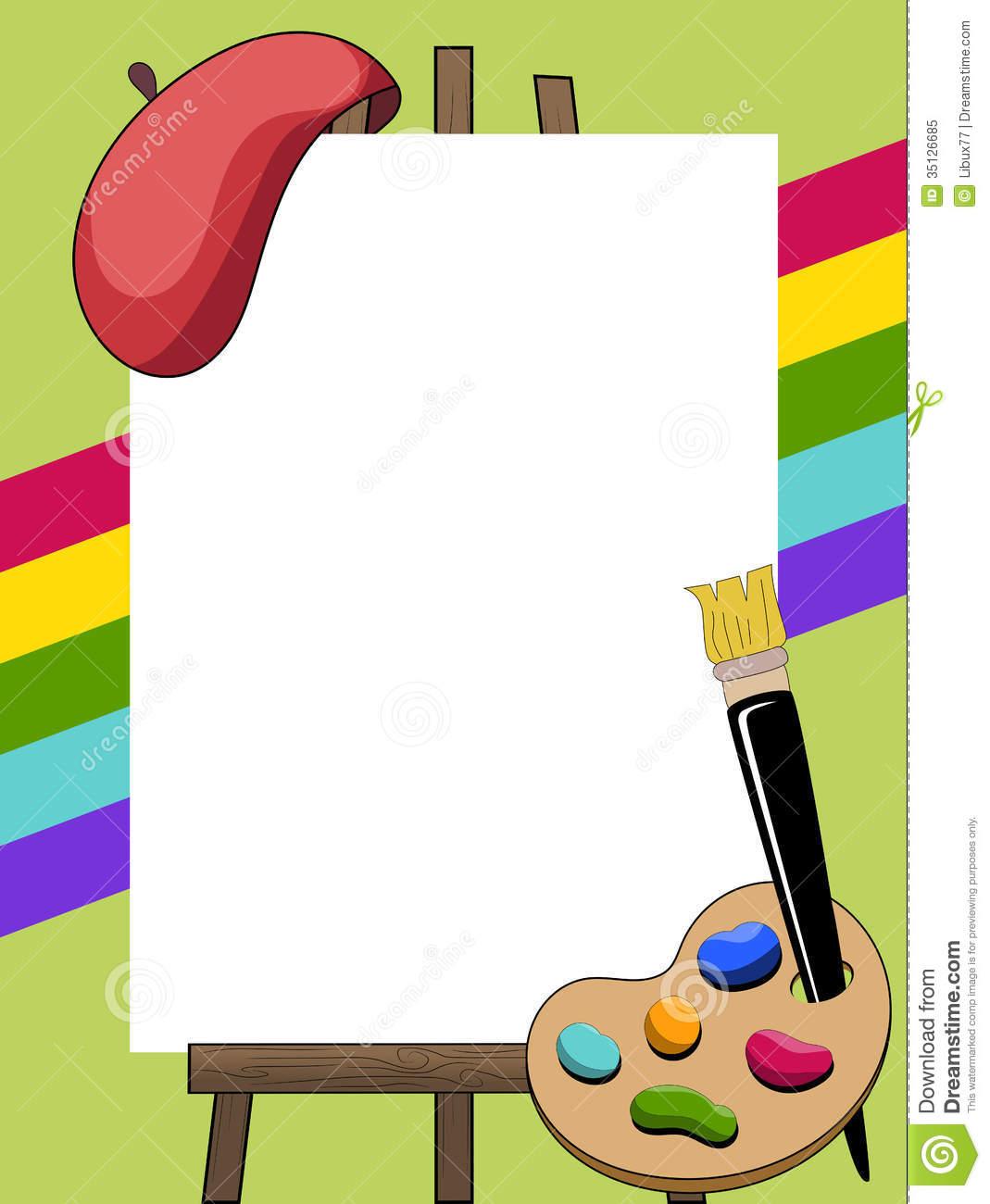 Paint Easel Clipart - Clipart Kid