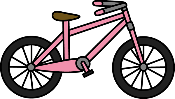 Pink Bicycle Clipart - Clipart Suggest