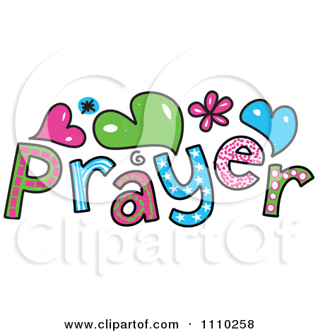 Prayer Clipart 1110258 Clipart Colorful Sketched Prayer Text Royalty