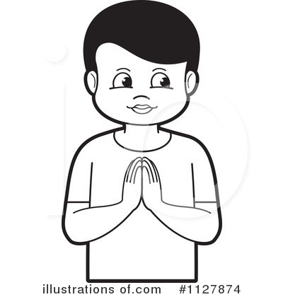 Royalty Free  Rf  Praying Clipart Illustration By Lal Perera   Stock