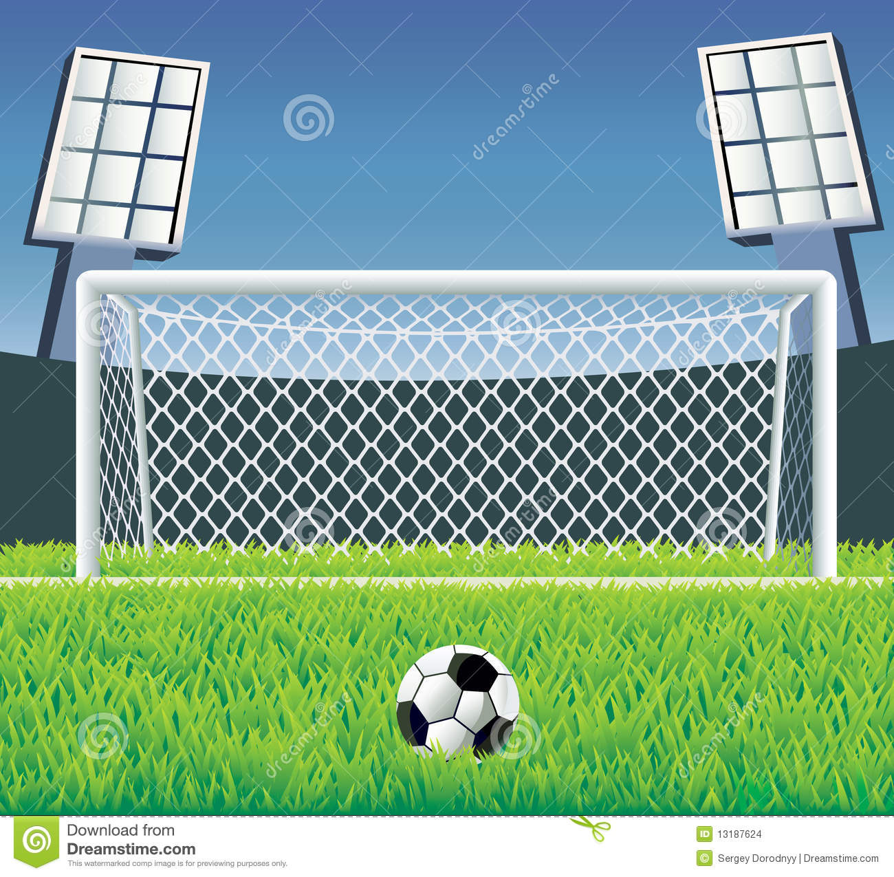 Soccer Goal With Realistic Grass  Stock Images   Image  13187624