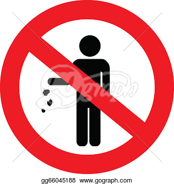 Stock Illustration   No Littering Sign  Clipart Drawing Gg66045188