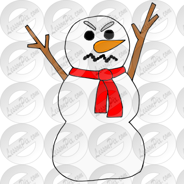 Angry Snowman Clipart Angry Snowman Picture