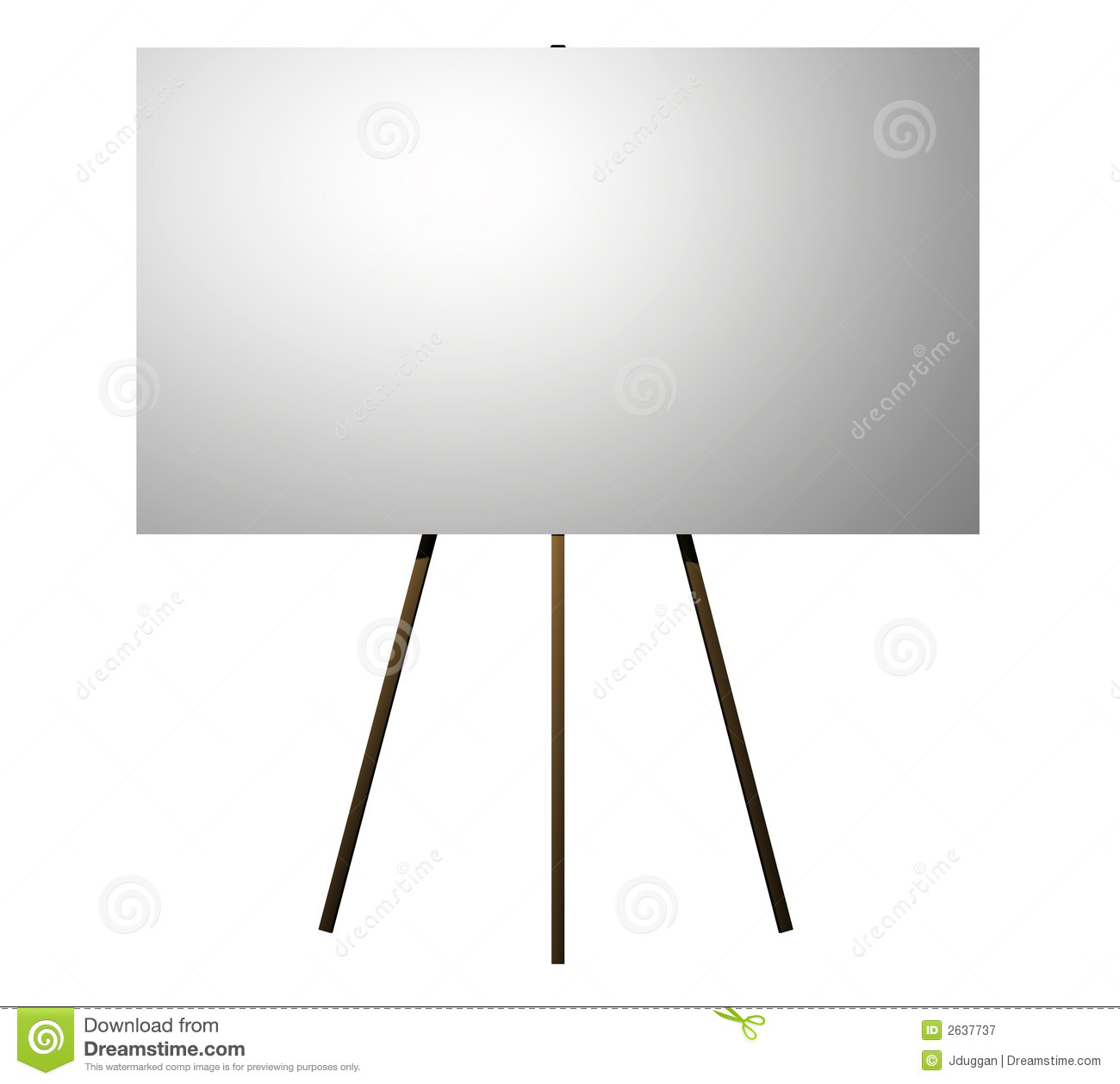 Billboard On An Easel Royalty Free Stock Photography   Image