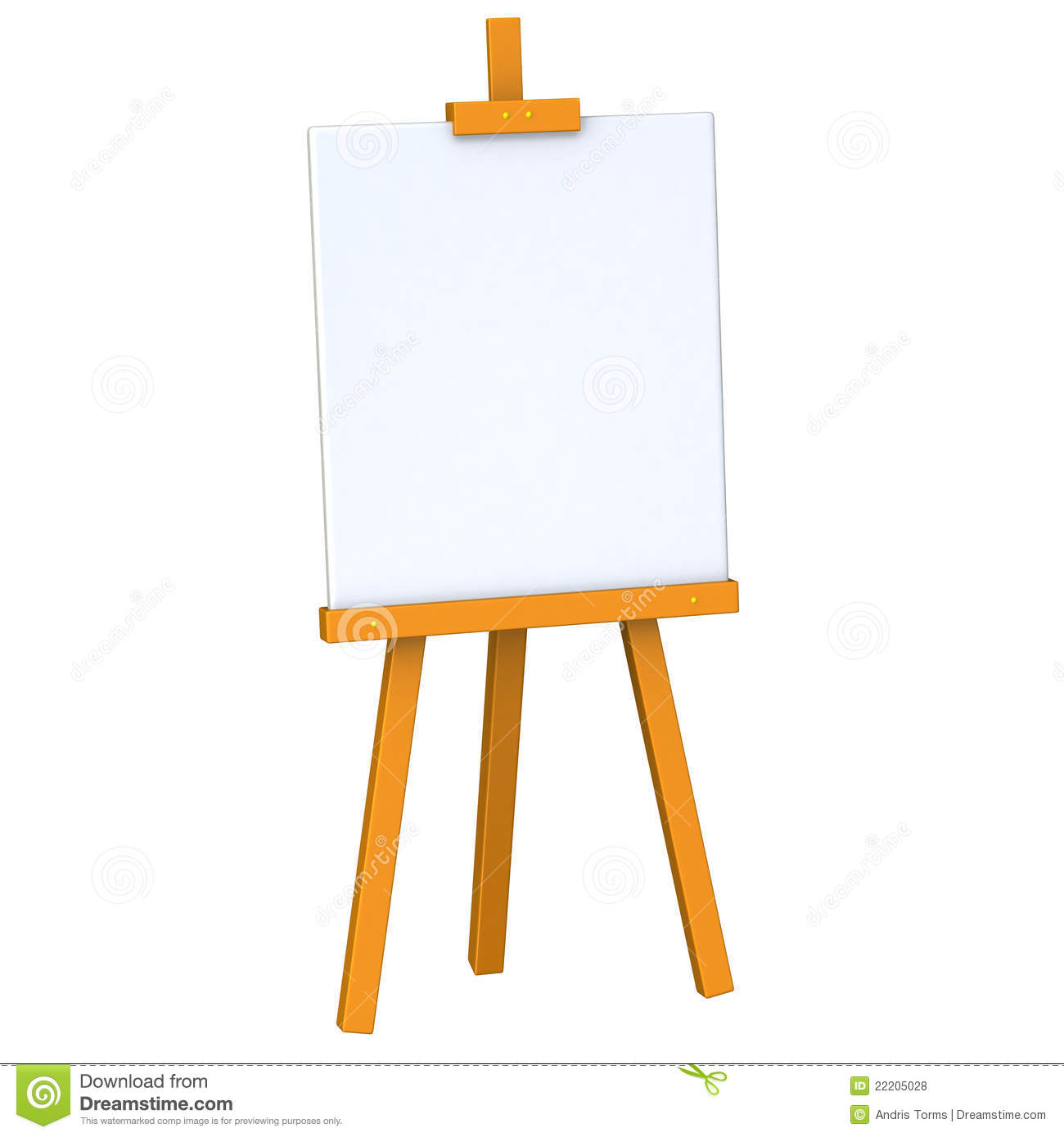 Blank Easel 3d Royalty Free Stock Photos   Image  22205028