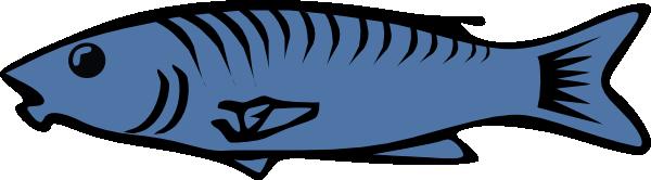 Blue Fish Clip Art At Clker Com   Vector Clip Art Online Royalty Free