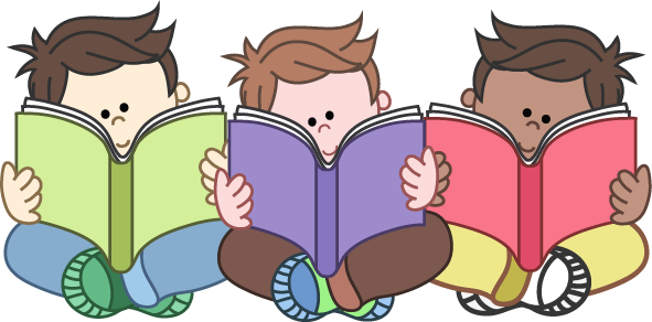 Boys Reading Group Clipart