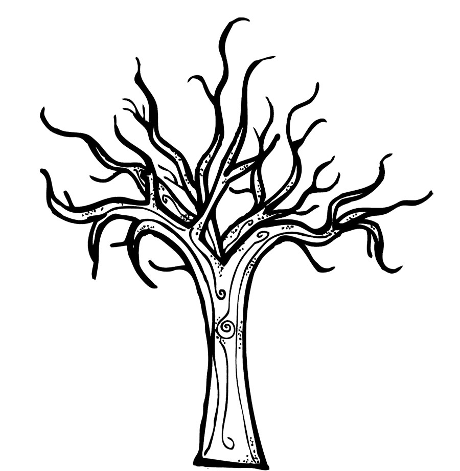 cartoon tree coloring pages - photo#35