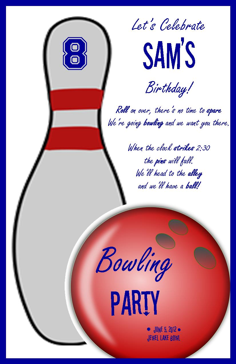 Download Bowling Birthday Party Clipart