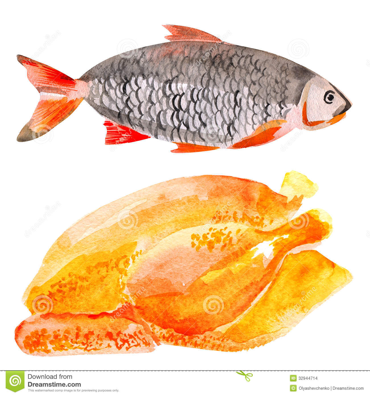 Meat chicken fish clipart clipart suggest for Fish and chicken