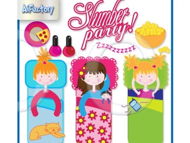 Fun Slumber Party Clipart   Meylah