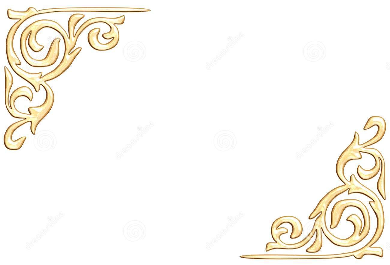 Elegant Gold Page Borders