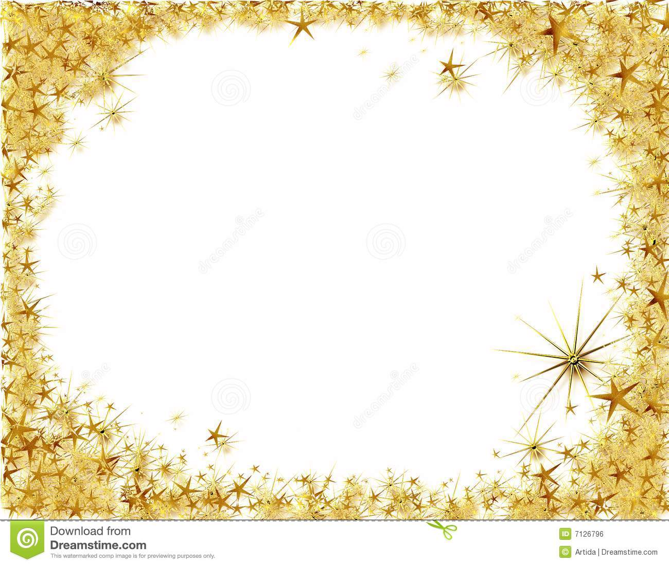 Gold Star Borders Clip Art Images Pictures Becuo