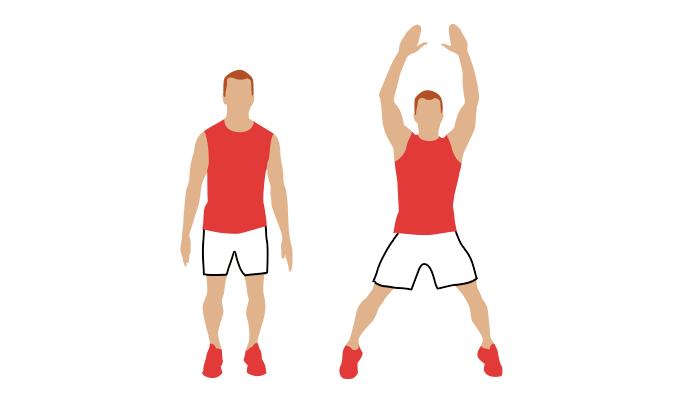 Image result for cartoon images of Jumping Jacks