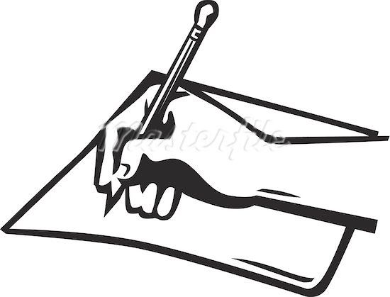 Hand Writing With Pen Clipart Hand Writing Clip Art