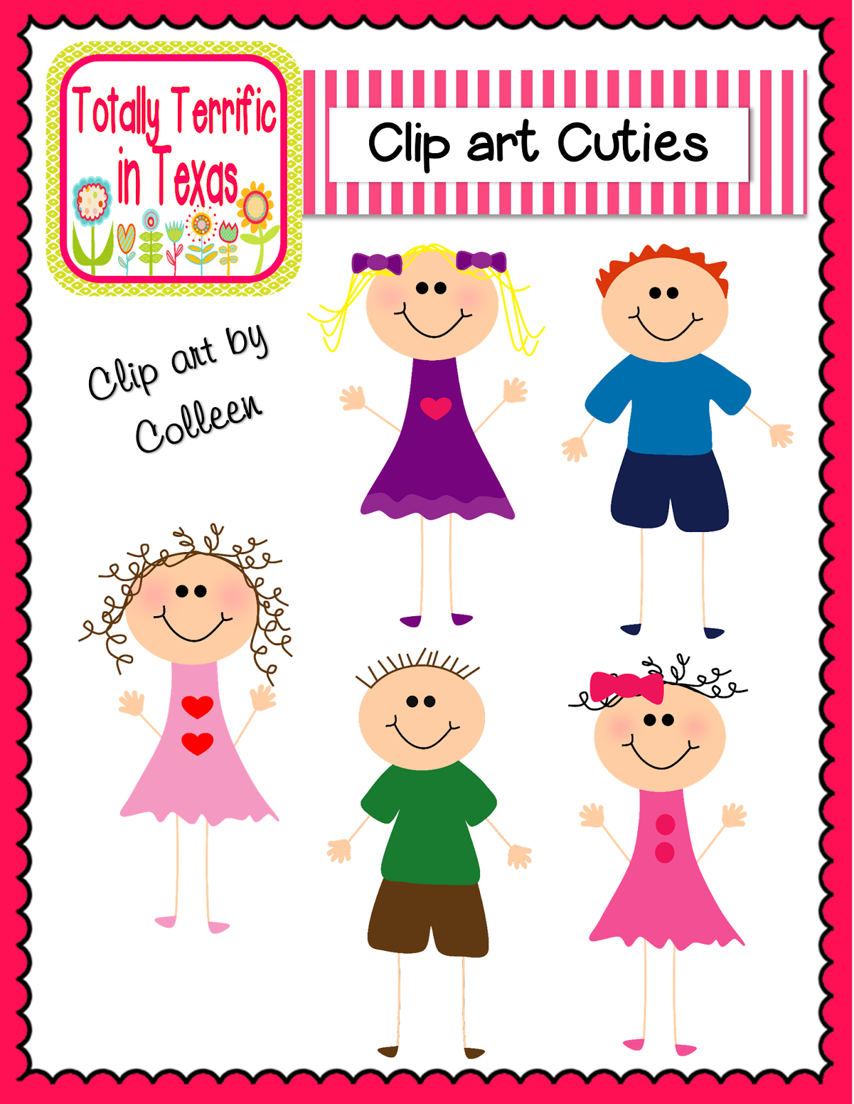 Http   Www Teacherspayteachers Com Product Clip Art Cuties Color