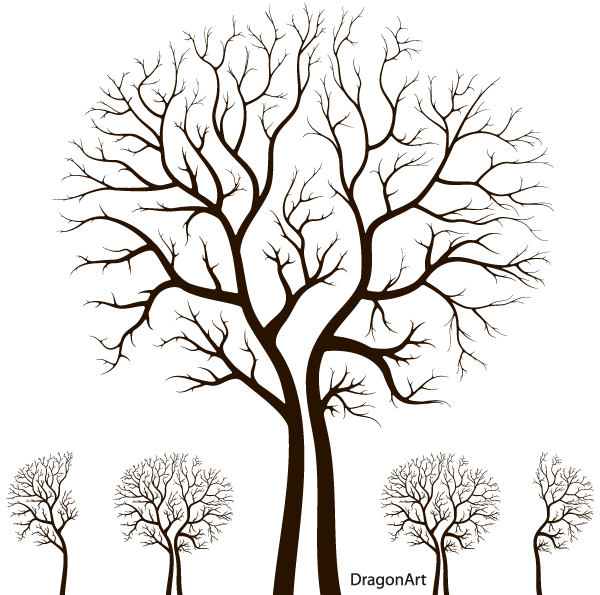 Leafless Autumn Tree Design Vector   123freevectors