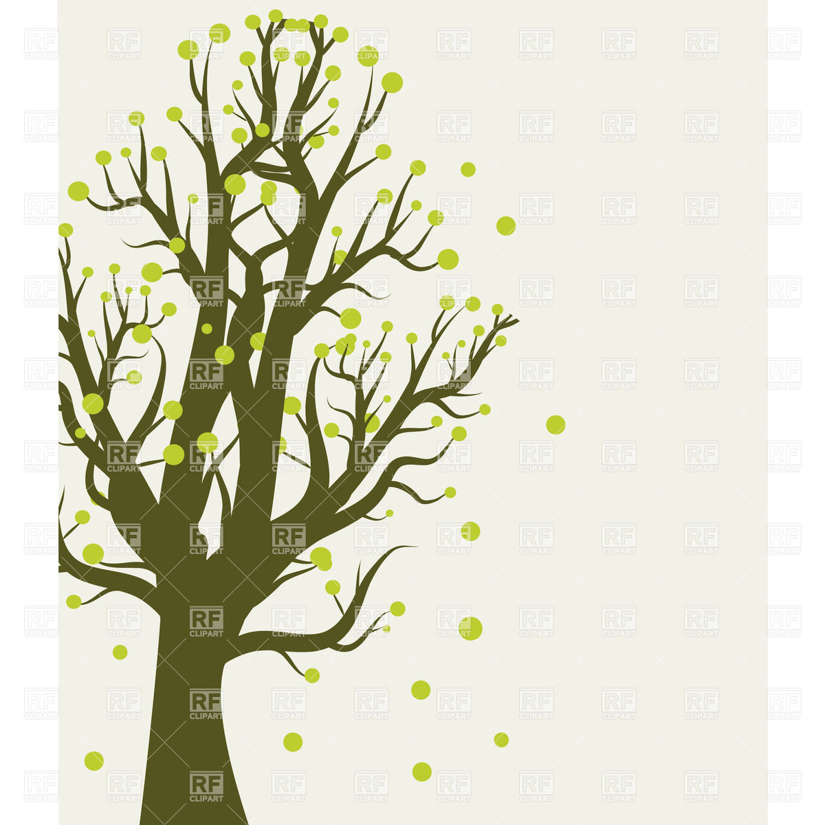Leafless Spring Tree Download Royalty Free Vector Clipart  Eps