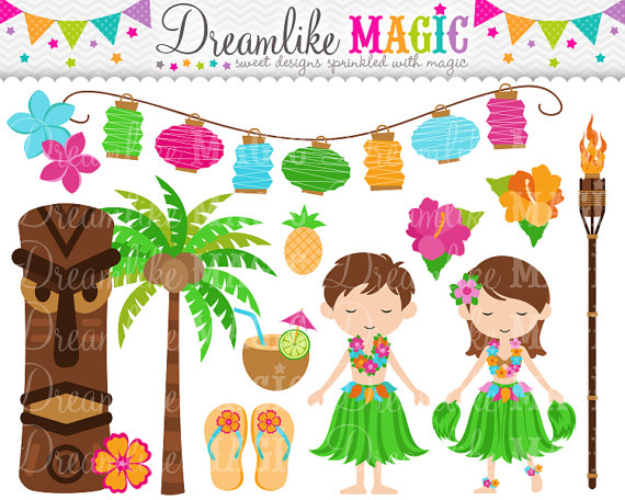 Luau Party Clipart For Personal Or Commercial By Dreamlikemagic