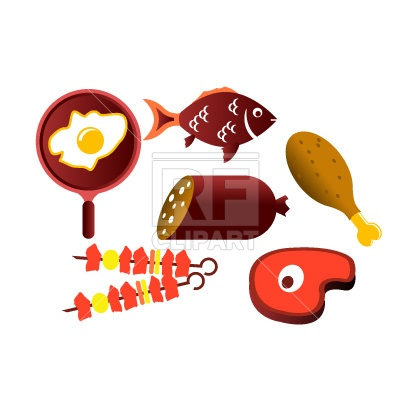 Meat Products   Sausage Fish And Ham Download Free Vector Clipart