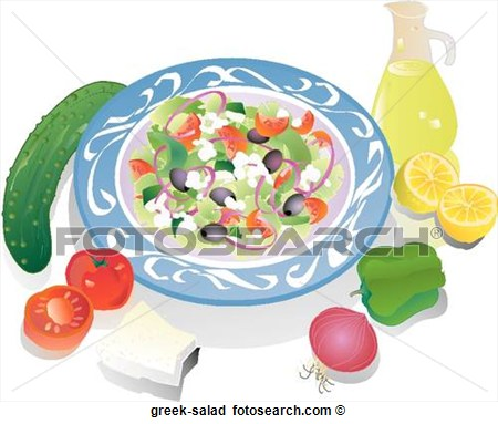 Mediterranean Food Clipart Greek Salad