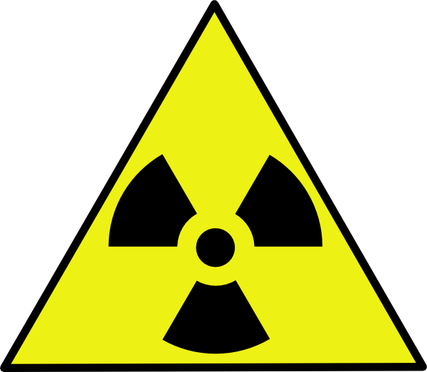 Nuclear Zone Warning Sign Clip Art