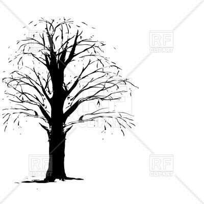 Of Dry Leafless Tree Download Royalty Free Vector Clipart  Eps