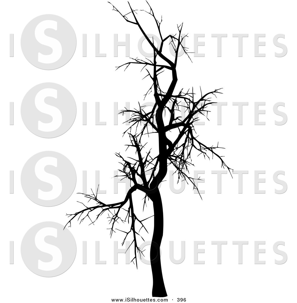 Preview  Silhouette Clipart Of A Black Silhouetted Bare Leafless Tree