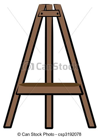 Stock Illustration   Brown Wooden Craft Or Art Easel   Stock