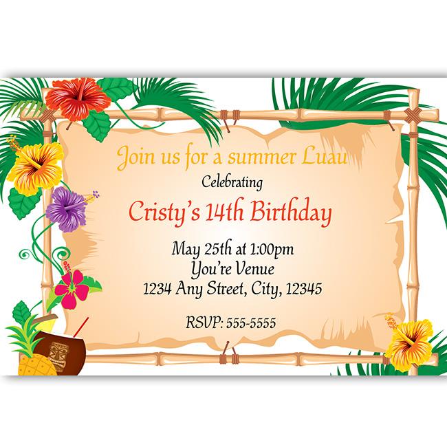 Luau Party Clipart - Clipart Suggest