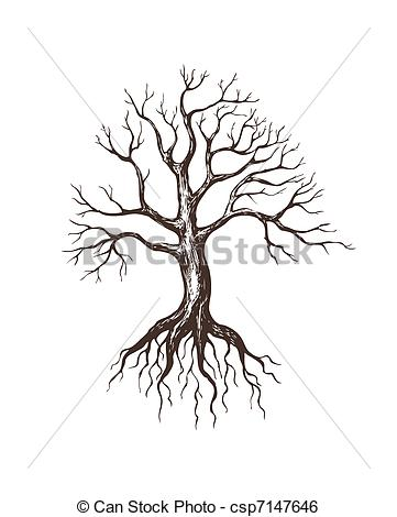 Tree   Illustration Of Big Leafless Tree Csp7147646   Search Clipart