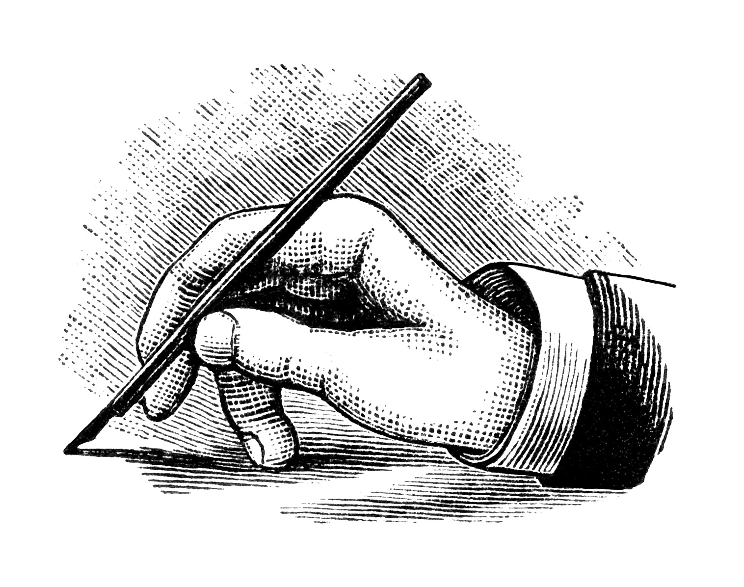 Hand With Pen Clipart - Clipart Kid