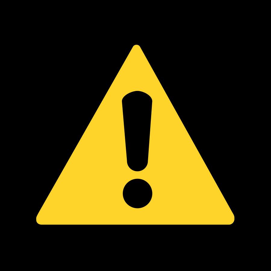 Warning Sign Svg Vector File Vector Clip Art Svg File Clipartsfree