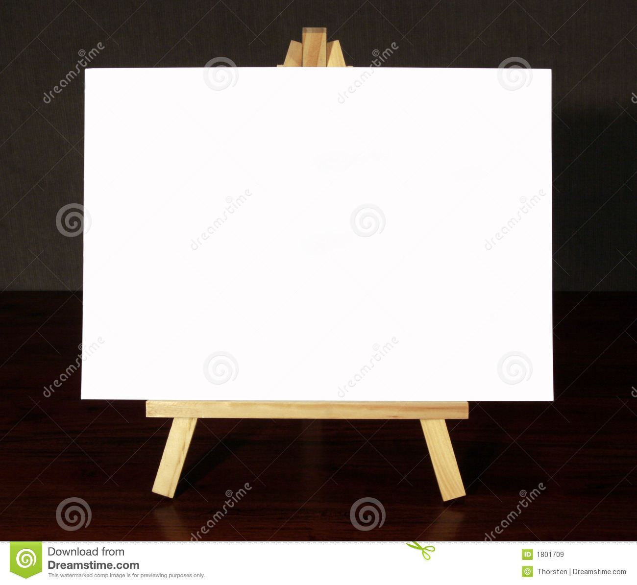 Wood Easel With White Canvas Royalty Free Stock Images   Image