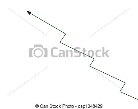 Arrow   3d Zig Zag Growth Arrow Csp1348429   Search Vector Clipart